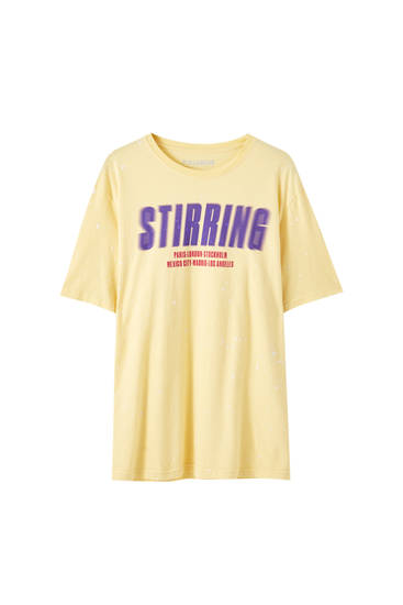 "Playera amarilla ""Stirring"""