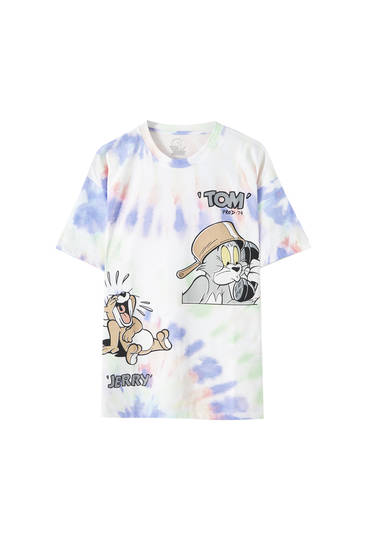 Camiseta Tom & Jerry tie-dye