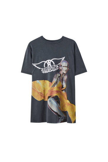"T-shirt Aerosmith ""Just Push Play"""