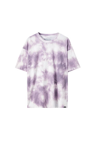 T-shirt with pink tie-dye