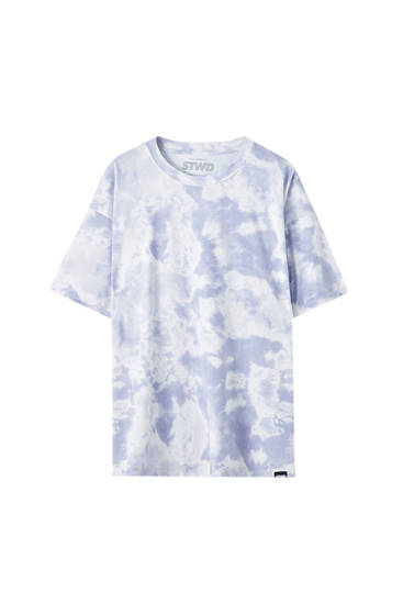 T-shirt with blue tie-dye