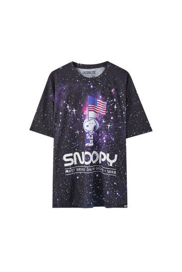 Snoopy moon print T-shirt