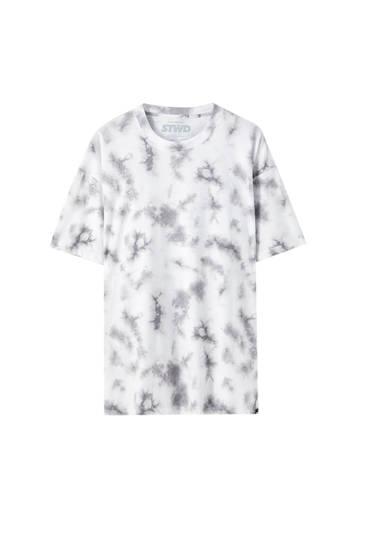 White tie-dye T-shirt