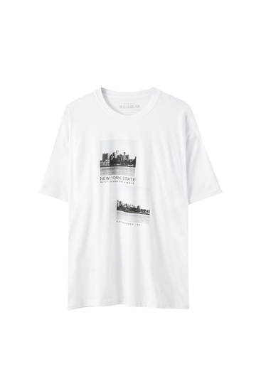 "Vit t-shirt ""New York"""