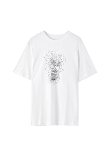 Basic T-shirt with skull illustration