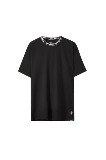 Black STWD collar T-shirt