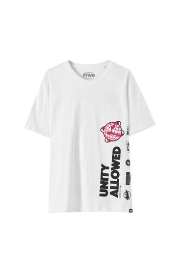 "White ""Unity Allowed"" T-shirt"