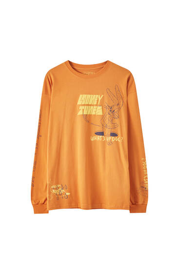 Orange Looney Tunes x Evan Rossell T-shirt