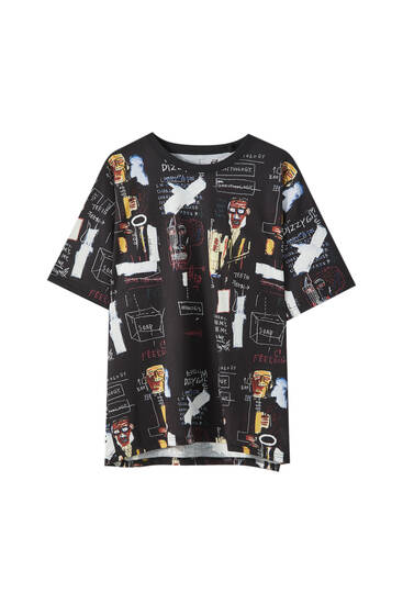 Basquiat graffiti print T-shirt