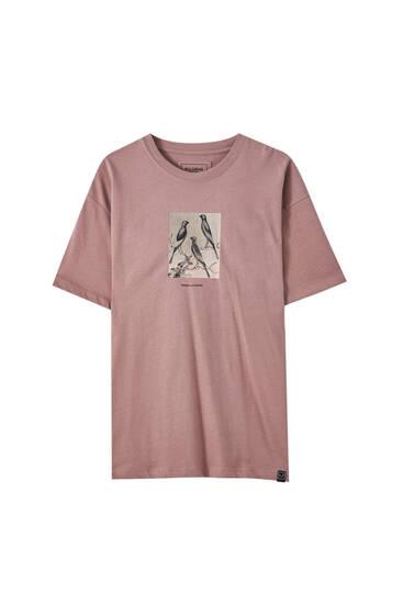 Fialové tričko spotiskem