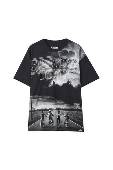 Stranger Things black T-shirt