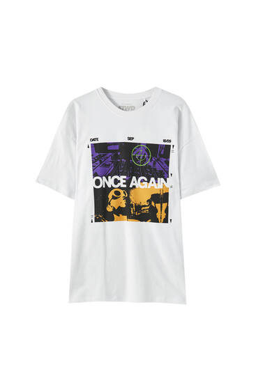 "Playera blanca ""Once Again"""