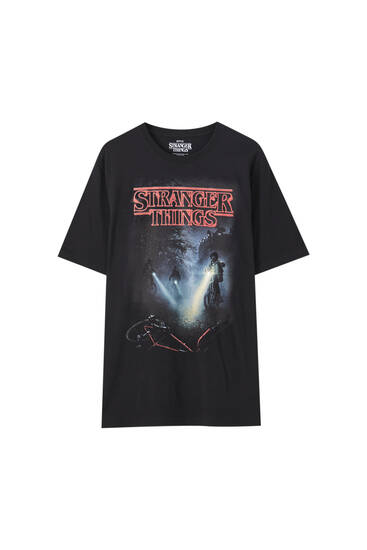 Stranger Things poster print T-shirt