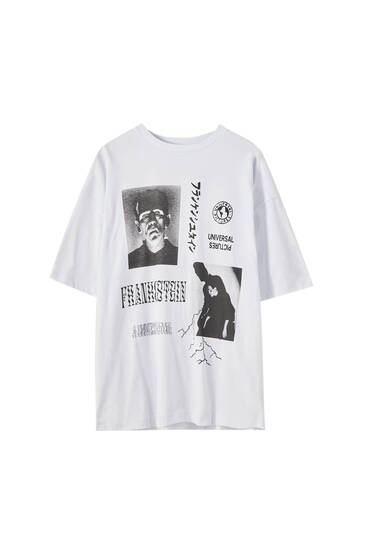 White Frankenstein T-shirt
