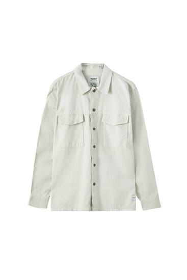 Τζιν πουκάμισο με τσέπες με καπάκι