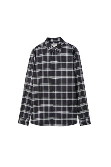 Check relaxed fit shirt
