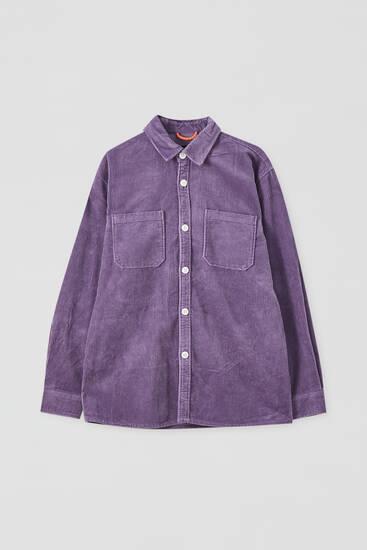 Κοτλέ μονόχρωμο overshirt