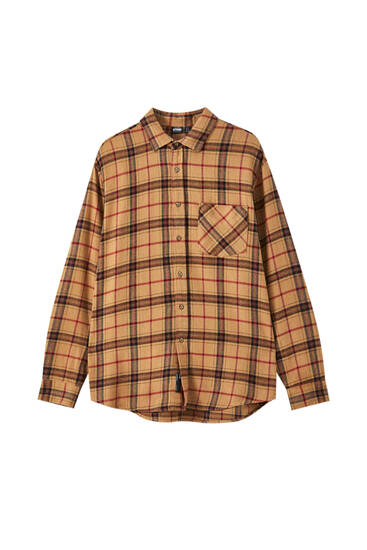 Camel check shirt
