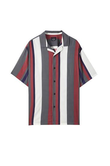 Camisa rayas verticales multicolor