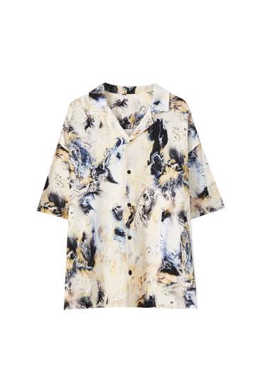 Camisa estampat marbre