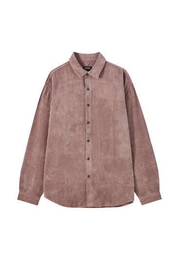 Κοτλέ πουκάμισο basic