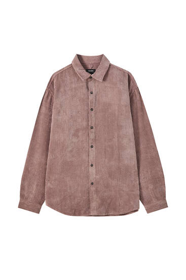 Flowing corduroy shirt