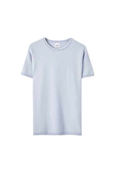 Pullover mit kurzen Ärmeln und Patentmuster