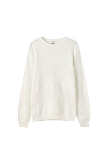 Long sleeve textured sweater