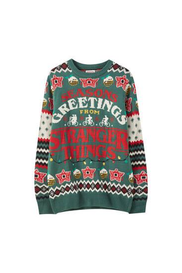 Venta Pull And Bear Sueter Navidad En Stock