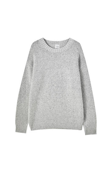 Soft melange fabric sweater