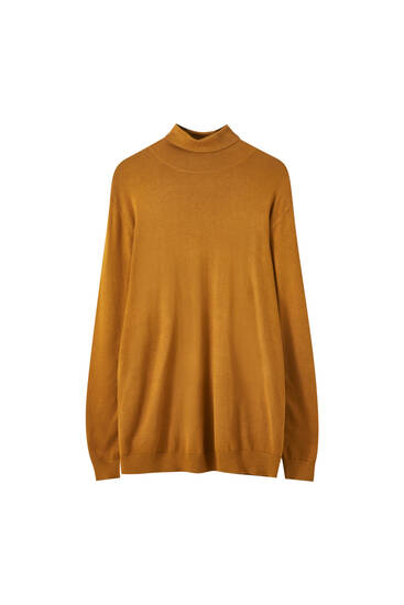 Pull col roulé manches longues