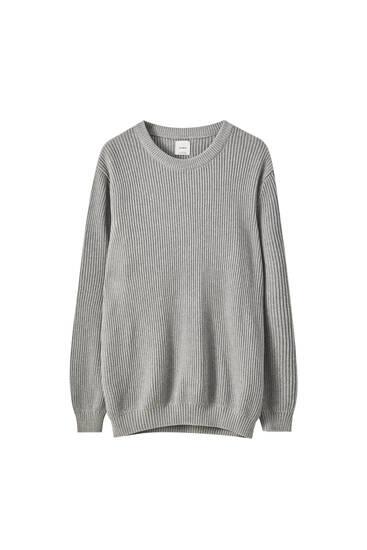 Bavlněný úpletový svetr