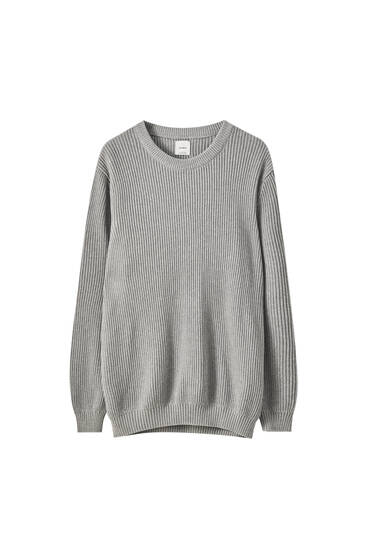 Sweater i bomuldsstrik
