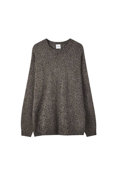 Pull maille chiné