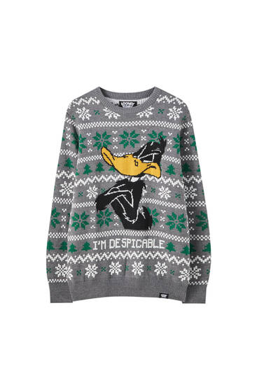 Looney Tunes Daffy Duck Christmas sweater