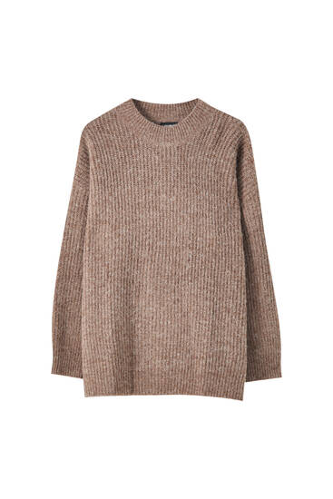 Pull en maille à col rond