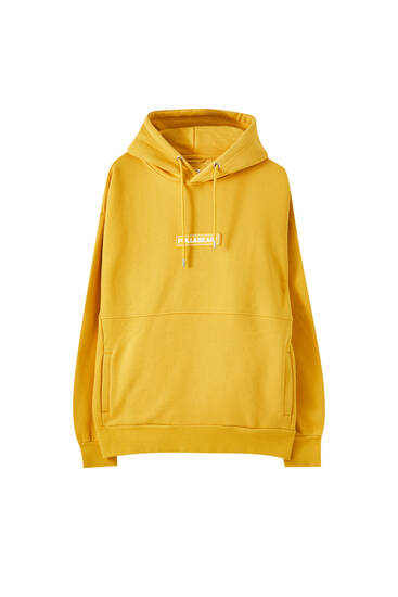 Basic sweatshirt with a rubberised logo