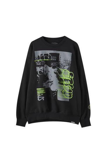 Sweatshirt with neon STWD logo