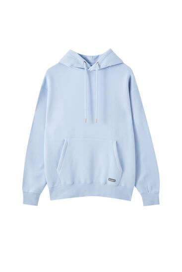 Basic-Sweatshirt mit Bauchtasche und Kapuze