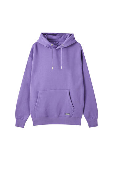 Basic pouch-pocket hoodie