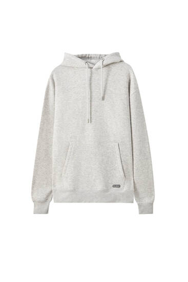 Basic sweatshirt with a rubberised patch