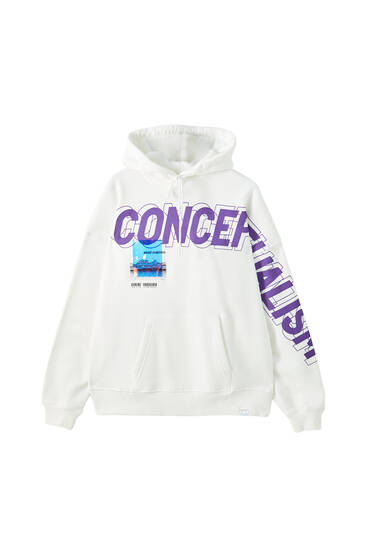 Sicko19 Sickonineteen hoodie with holographic slogan