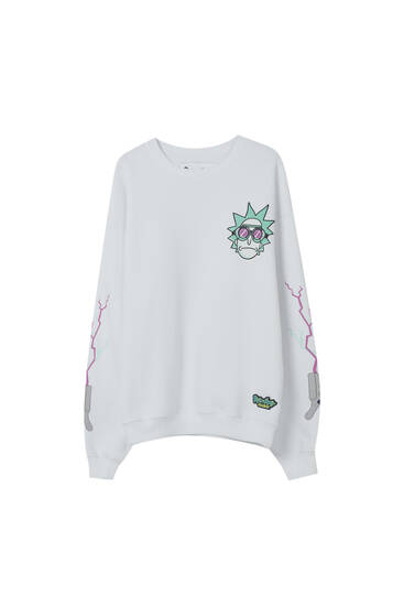 White Rick & Morty sweatshirt