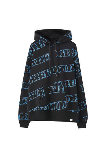 Printed Sicko19 Sickonineteen pouch pocket sweatshirt