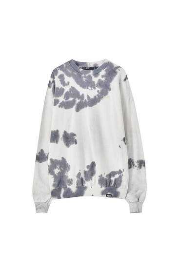 Embroidered tie-dye sweatshirt