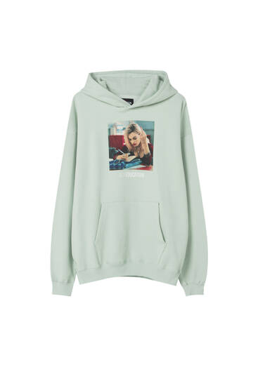 Sudadera Sex Education x Pull&Bear verde Maeve