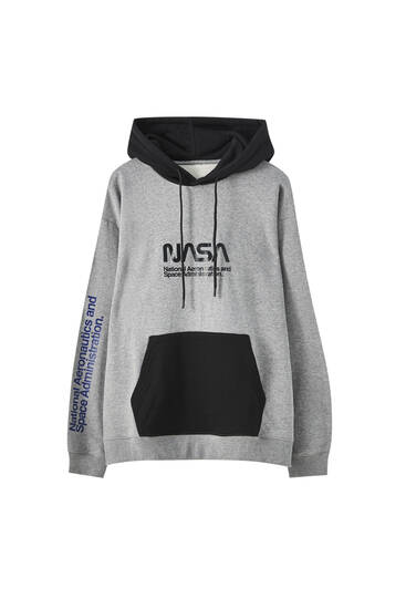 NASA hoodie with pouch pocket