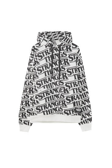 White Stranger Things sweatshirt