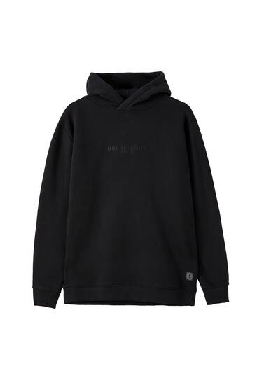 Soft embroidered logo sweatshirt