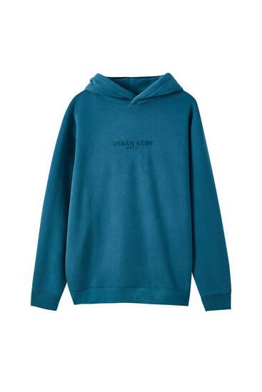 Soft embroidered logo sweatshirt